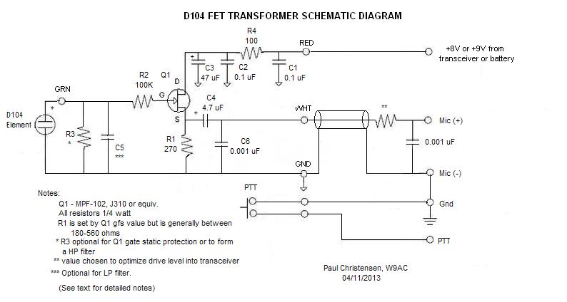 D104_Schematic astatic d 104 n6pet my ham radio journal turner plus 2 wiring diagram at bayanpartner.co