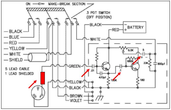 Schematic mod 1 astatic d 104 n6pet my ham radio journal turner plus 2 wiring diagram at bayanpartner.co