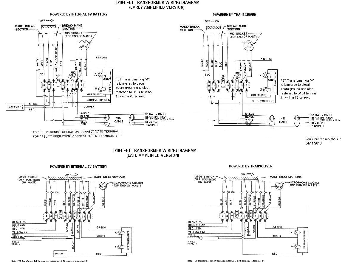 astatic d-104 - n6pet - my ham radio journal i ic 7000 microphone wiring diagram #8